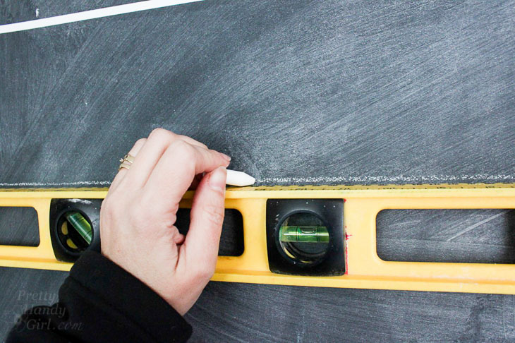 draw chalk lines using level