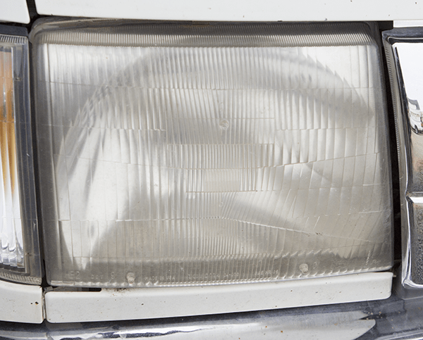 Headlight in Need of Restoration