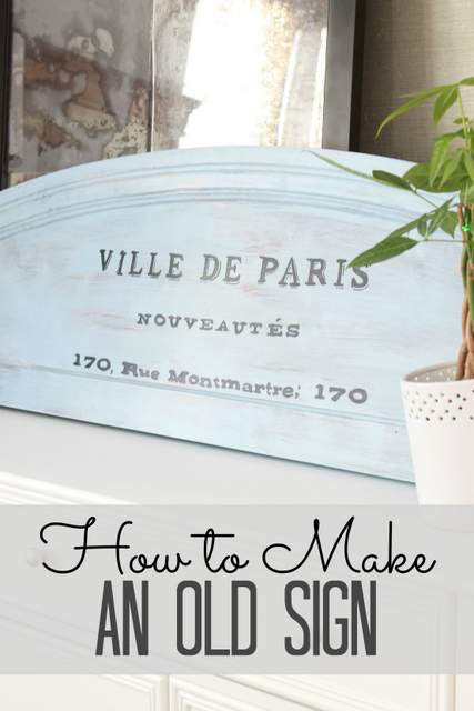 How to Make an Old Sign