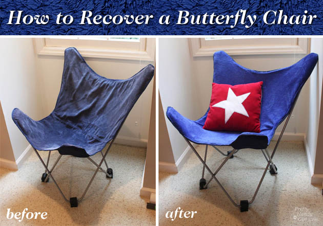How to Recover a Butterfly Chair | Pretty Handy Girl