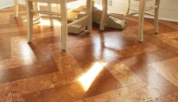 Installing Cork Tile Flooring In The Kitchen Pretty Handy Girl - How much is cork flooring