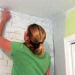 How to Install a Brick Wallpaper Mural
