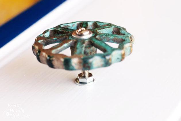 Spigot Faucet Drawer Knobs Tutorial   Pretty Handy Girl