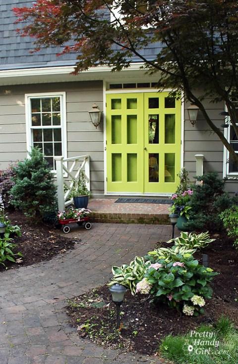Stunning Green Doors - Pretty Handy Girl green door
