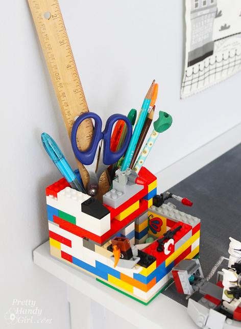 Lego Pencil Holder | Pretty Handy Girl
