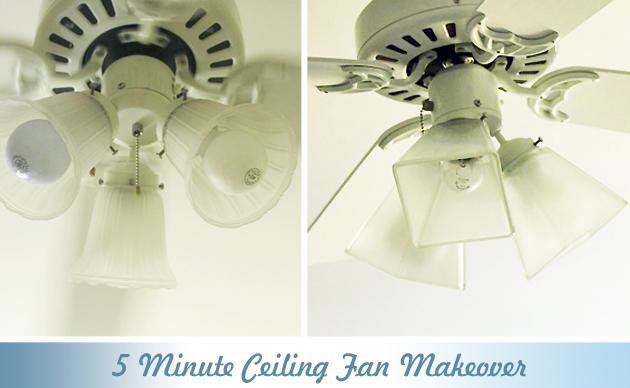 5 Minute Ceiling Fan Update | Pretty Handy Girl