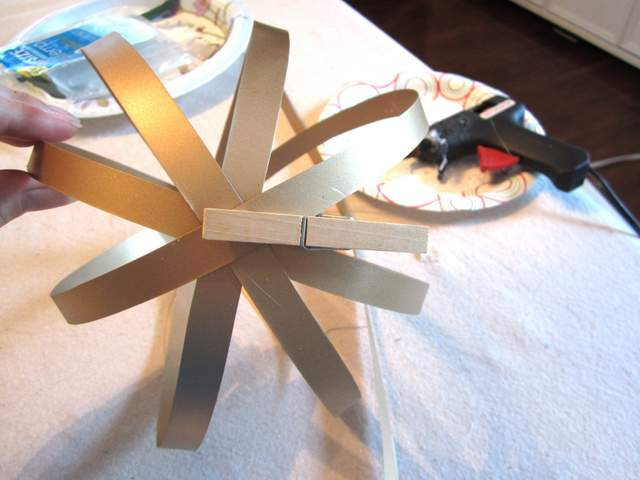 DIY Orbs from Metal Flashing