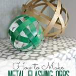 Decorative Metal Flashing Orbs