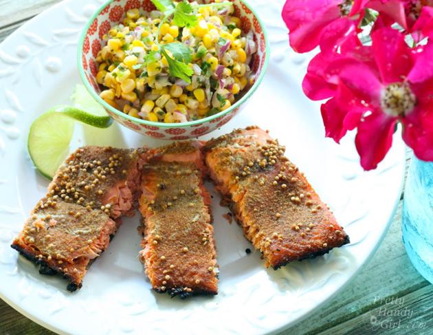 Spice-Rubbed Salmon Recipe | Pretty Handy Girl
