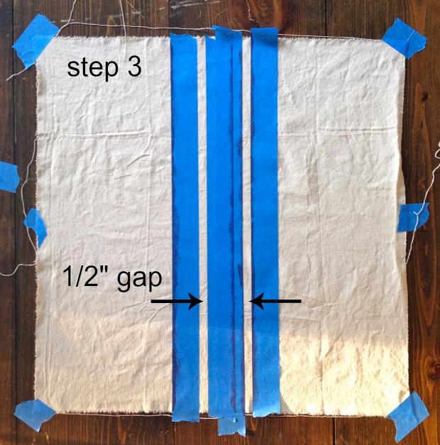 striped euro shams step 3
