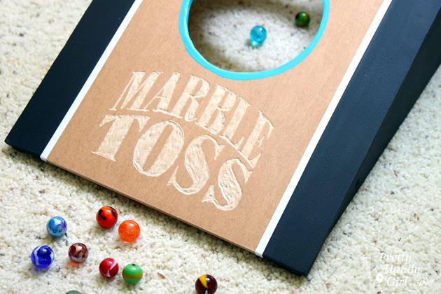 DIY Marble Toss Game