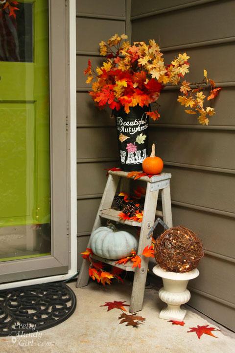 Fall Décor for Home Entrance | Pretty Handy Girl