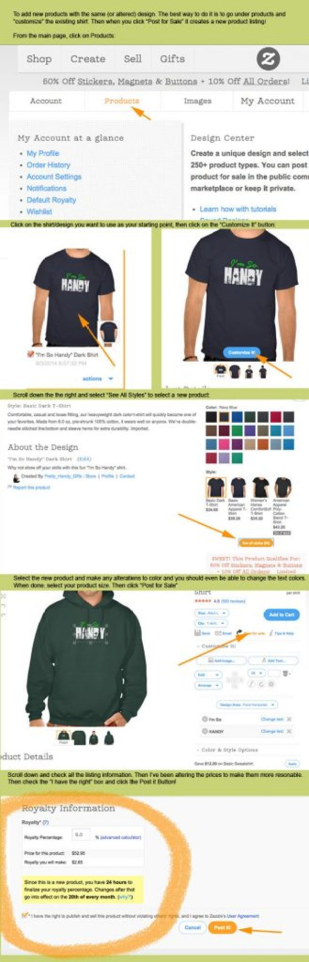 How to Create Your Own Zazzle Shirts | Pretty Handy Girl