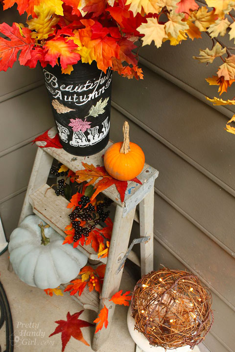 Fall Décor for Home Entrance | Pretty Handy Girl