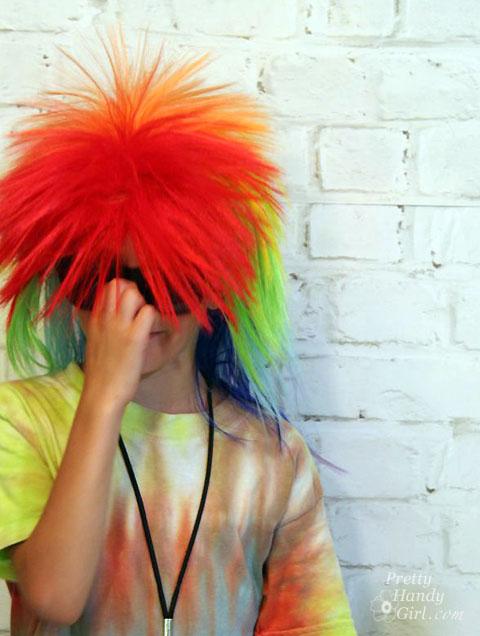 Rainbow Punk Hair for Rock n' Roll Birthday Party | Pretty Handy Girl