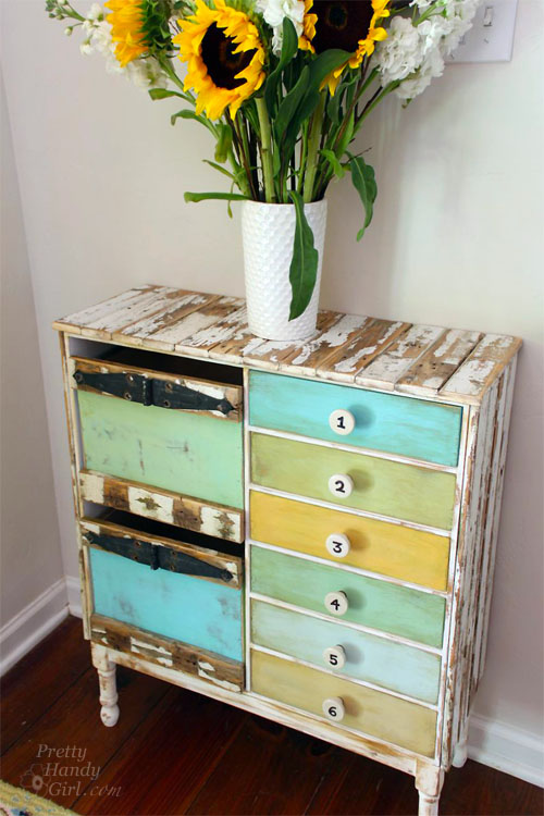 rustic ikea hacked cabinet