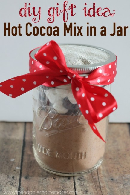 diy gift idea hot cocoa mix in a jar