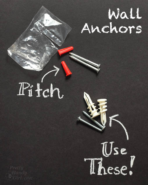 Good & Bad Wall Anchors | Pretty Handy Girl