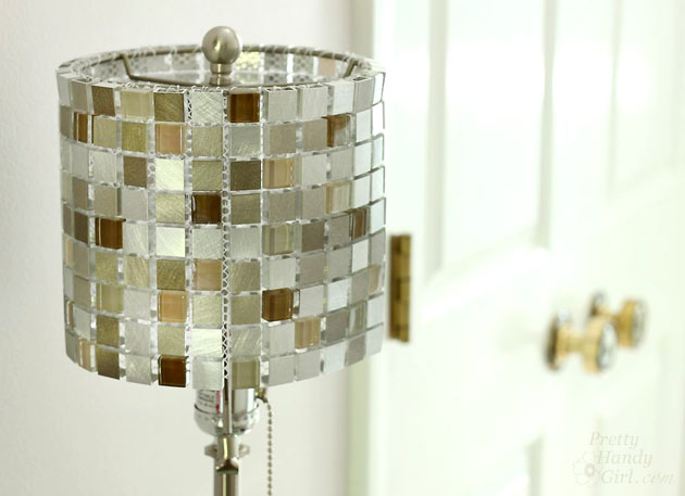 How to make a mosaic tile lamp shade lowes creator make your own mosaic tile lampshade pretty handy girl aloadofball Gallery