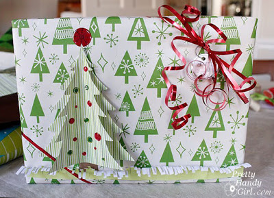 3D Tree Gift Wrap