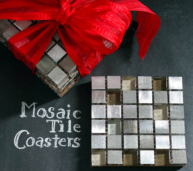 Mosaic Tile Coasters | Pretty Handy Girl