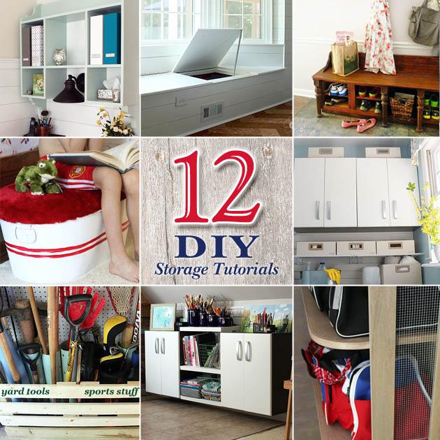 12 DIY Home Storage Tutorials | Pretty Handy Girl & 12 DIY Storage Projects to Organize Your Home