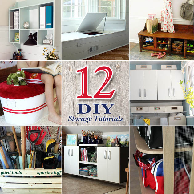 12 DIY Storage Projects to Organize Your Home & 29 Hacks to Help You Get More Organized - Pretty Handy Girl