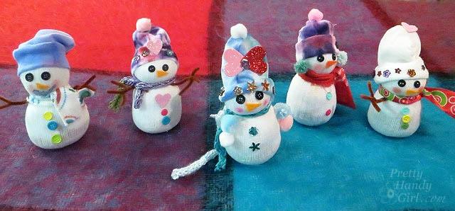 Cute Sock Snowmen | Pretty Handy Girl