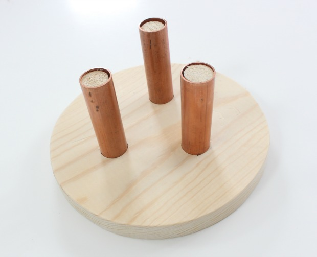 wood cake stand step 5