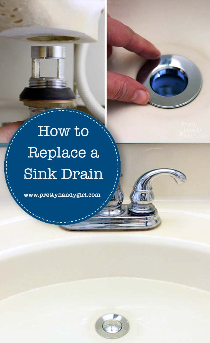 Yes, you can replace a sink drain with this easy-to-follow tutorial from Pretty Handy Girl! | DIY plumbing tutorial #prettyhandygirl #plumbingfixes #DIYtutorial