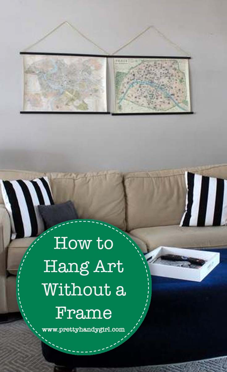 How to Hang Art Without A Frame   Pretty Handy Girl