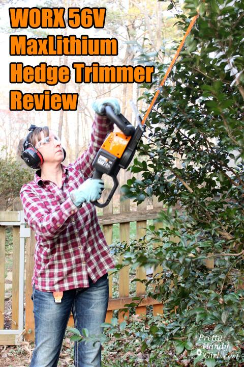 WORX 56v MaxLithium Hedge Trimmer Review | Pretty Handy Girl