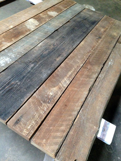 Rustic Wood Farmhouse Table Top From Reclaimed Lumber - Salvaged wood farmhouse table
