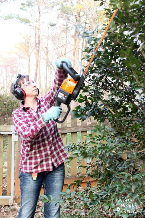 WORX 56v Hedge Trimmer Review | Pretty Handy Girl