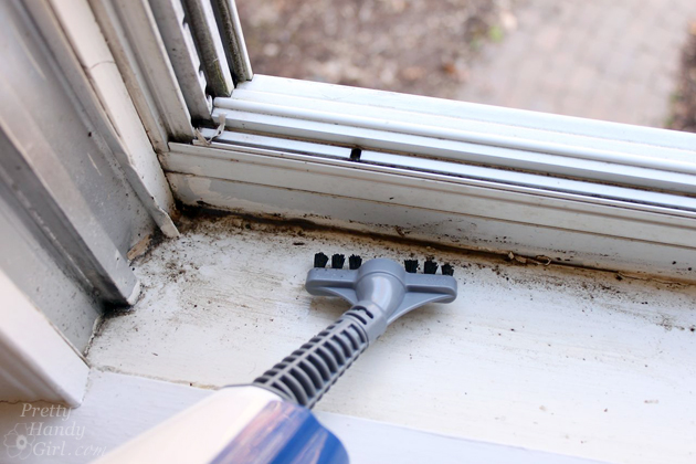 Easy Clean Your Storm Windows with Steam | Pretty Handy Girl