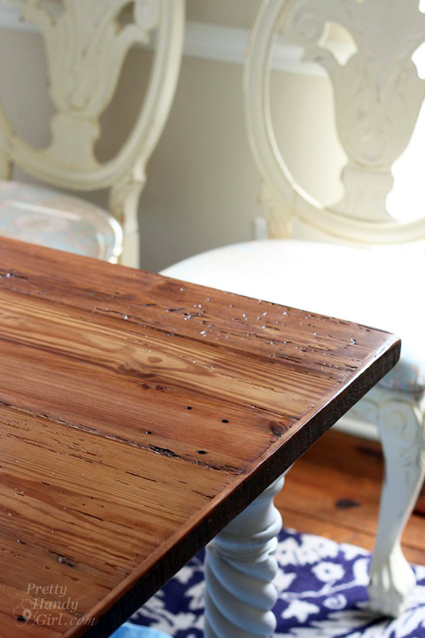 Reclaimed Lumber Farmhouse Table | Pretty Handy Girl