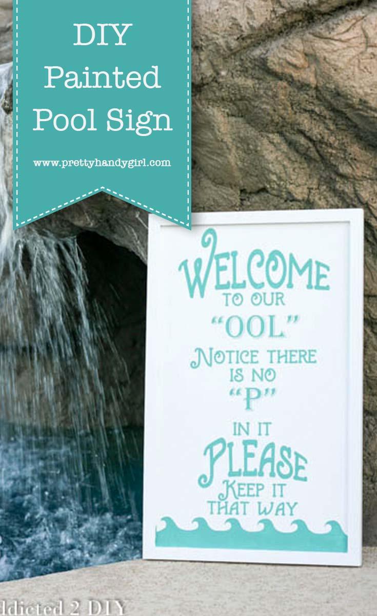 DIY Pool Sign | Pretty Handy Girl