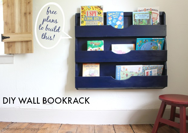 DIY wall Bookrack tutorial