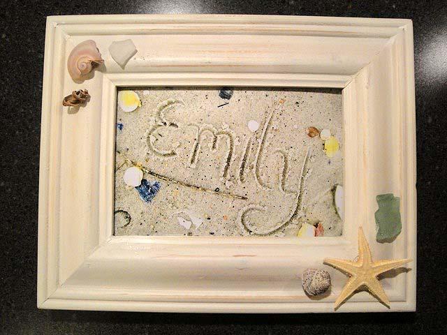 Writing Name in Sand Art   Pretty Handy Girl