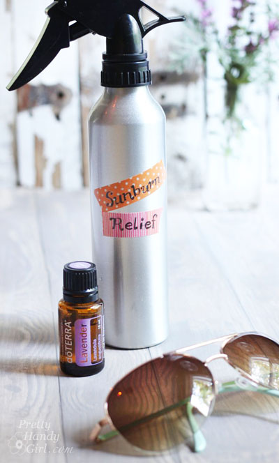 2 Ingredient Sunburn Relief Spray + Essential Oil Giveaway | Pretty Handy Girl
