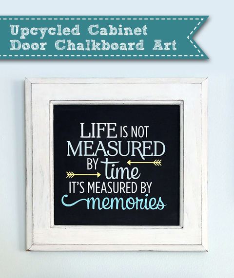 Upcycled Cabinet Door Quote Art | Pretty Handy Girl