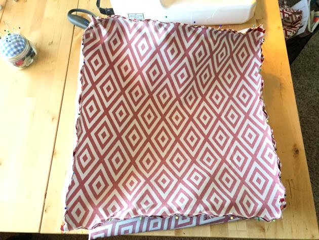pouf ottoman sewing