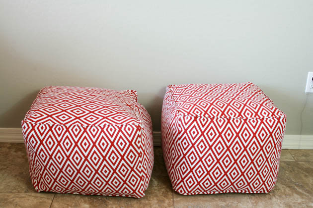 Diy Pouf Ottoman Tutorial And Lessons Learned Pretty