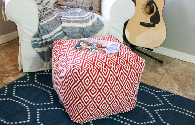 Terrific Diy Pouf Ottoman Tutorial And Lessons Learned Pretty Machost Co Dining Chair Design Ideas Machostcouk