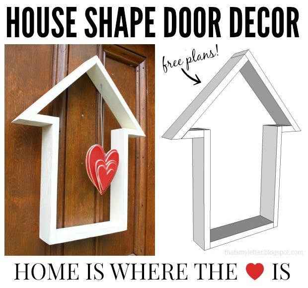 house shape door decor collage