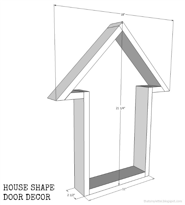 house shape door decor dimensions