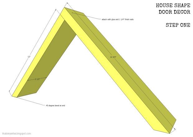 house shape door decor step 1