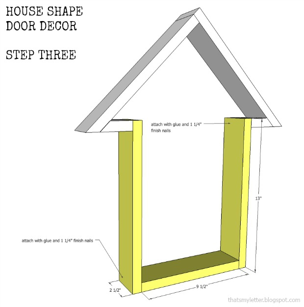 house shape door decor step 3