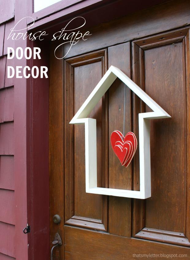 house shape door decor title