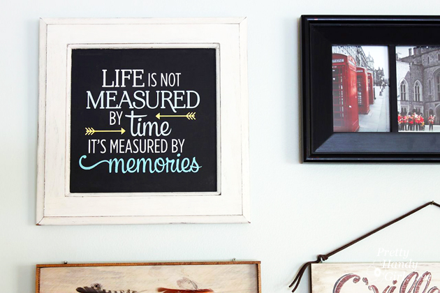 Upcycled Cabinet Door Quote Art | Pretty Handy Girl